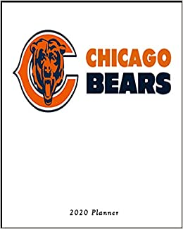 Chicago Bears 2020 Schedule.Chicago Bears 2020 Planner Calendar Agenda Daily Monthly