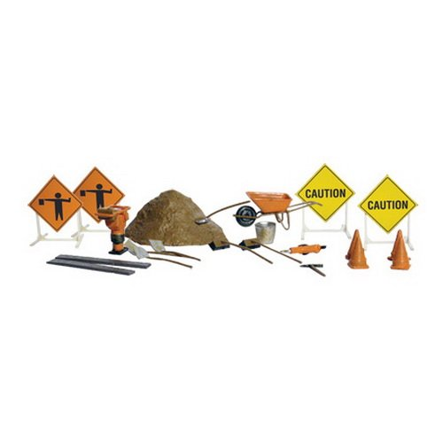 Road Crew Accessory Details O Scale Woodland Scenics