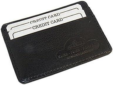 Cowhide 4 x 2.75 Leather Slim Line Credit Card Holder