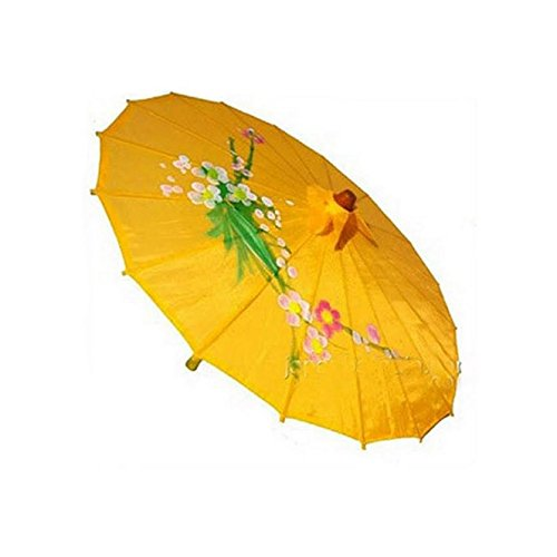 JapanBargain S-2197 Japanese Chinese Umbrella Parasol, Light Orange