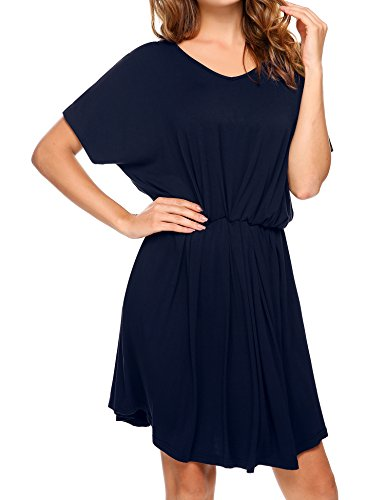 Meaneor Navy Summer Blue Vestito lungo Style 770 BaqBrZT