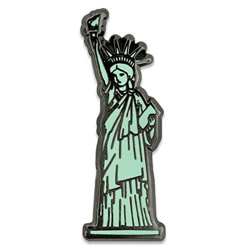 (PinMart Statue of Liberty Jewelry New York Souvenir Enamel Lapel)