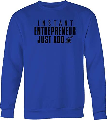 (Instant Entrepreneur Just Add Coffee with Mug Self Starter Pride Tshirt Large)