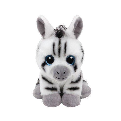 Stripes Zebra Beanie Babies 8 inch - Stuffed Animal by Ty (41198) (Ty Animal)