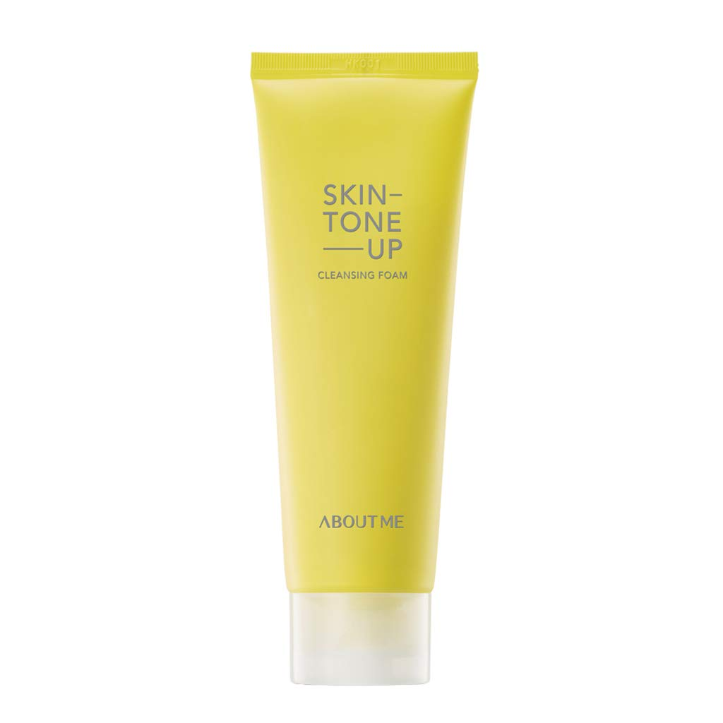 ABOUT ME Skin Tone up Cleansing Foam 120ml - Vitamin C Lemon Skin Clearing & Refreshing Cleanser, Removes Skin Waste, Deep Pore Clearing