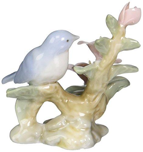 Cosmos 96443 Fine Porcelain Mini Bluebird with Flowers Figurine, 2-1/2-Inch