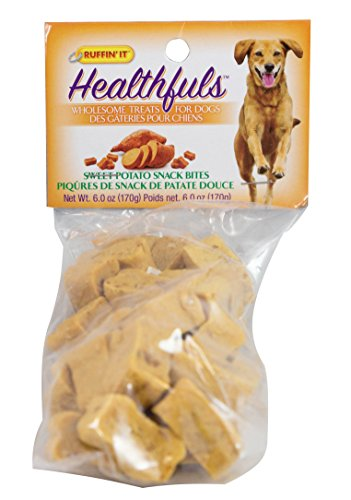 Ruffin It Healthfuls Healthy Natural Sweet Potato Treats 6oz - Perfect for training , 1-Pack