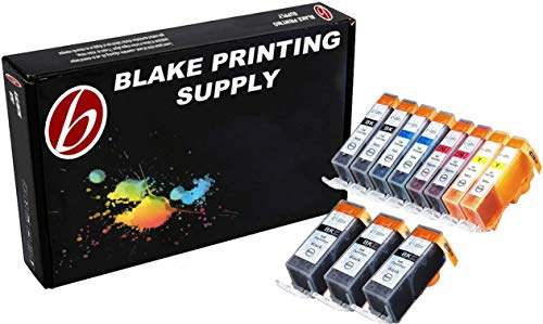 11 Pack Compatible CLI 221 , CLI-221 , CLI221 , PGI 220 , PGI-220 , PGI220 3 Big Black, 2 Small Black, 2 Cyan, 2 Magenta, 2 Yellow for use with Canon PIXMA Ip3600, PIXMA Ip4600, PIXMA Ip4700, PIXMA MX860, PIXMA MX870. PIXMA Ip 3600, PIXMA Ip 4600, PIXMA Ip 4700, PIXMA MX 860, PIXMA MX 870.. Ink Cartridges for inkjet printers. Blake Printing Supply ()