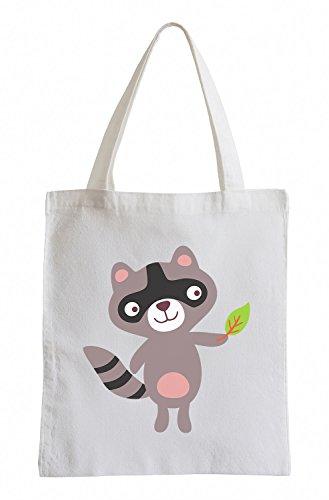 Raxxpurl Dolce Raccoon Fun sacchetto di iuta
