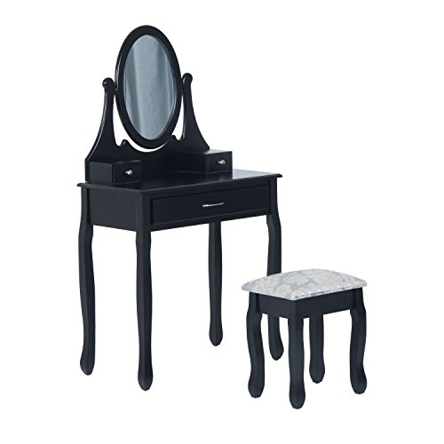 HOMCOM Wooden Makeup Vanity Dressing Table Set with, used for sale  Delivered anywhere in Canada