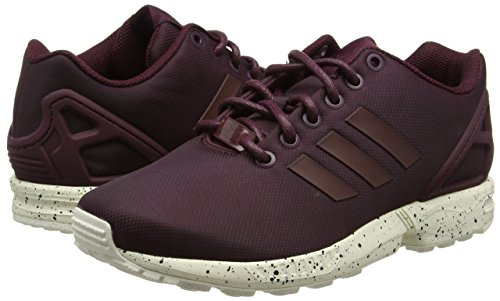 White Zx Adulte Flux Rouge maroon chalk maroon Mixte Adidas Baskets Basses v6Tgq