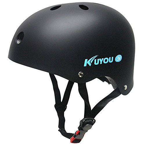 [Kuyou] Helmet ABS Shell for Skateboard /Ski /Skating/Roller Protective Gear Suitable Kids and Youth,Adult 3 Size.