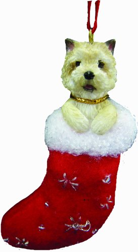 Cairn Terrier Christmas Stocking Ornament with