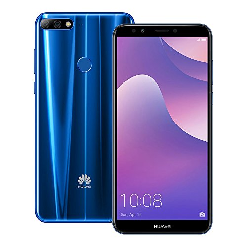 Huawei Y7 Prime 2018 (LDN-TL10) 3GB/32GB 5.99-inches Dual SIM Factory Unlocked - International Stock No Warranty (Blue)