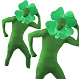 Green Head hat Shamrock Shaped Hair Hoop Headpiece Decorations Accessories for St.Patrick's Day Adult (Green)