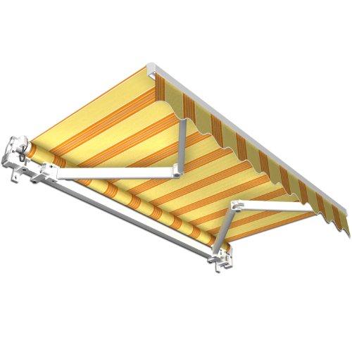 Stabile-Aluminium-Markise-Alu-Gelenkarmmarkise-Markisen-f-Terrasse-Garten-o-Balkon-TV-geprft