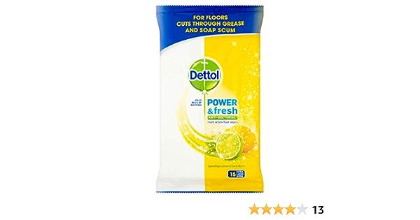 Dettol Serpillère Citron et Citron Vert Extra Large Lingettes Big Pack 2 x 25 Total 50