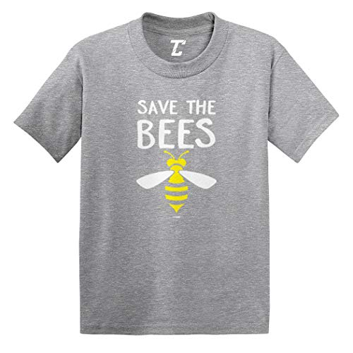 Save The Bees - Activist Bumble Buzz Infant/Toddler Cotton Jersey T-Shirt (Light Gray, 5T)