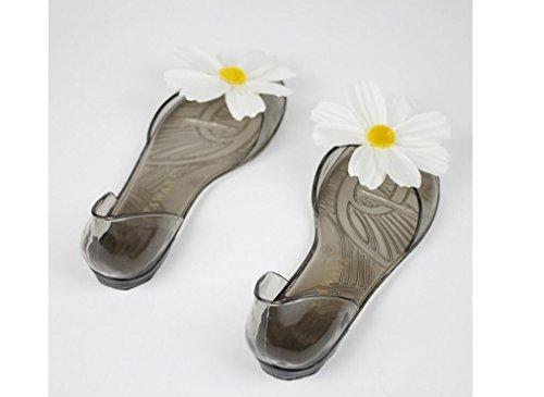 Beauqueen Flip Flop & Thongs Fleurs à la main Peep Toes DIY Jelly Chaussures Sunflower Flat Heel Beach Slippers