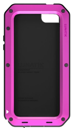 Lunatik TT5L-005 Taktik Strike Impact Protection System for iPhone 5 - 1 Pack - Retail Packaging - Pink by LUNATIK