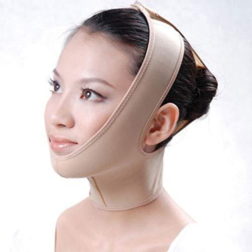 Face Slimming Mask, V Face Belt Lift V Face Line Face-Lift Bandage Cheek Slim Slimming Chin Cheek Mask Lift Chin Breathable,Flesh,L