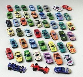 50 pc race car set metal plastic die cast cars children kids game