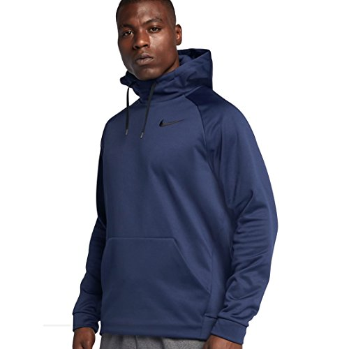 NIKE Mens Therma Training Hoodie (Medium, Binary Blue/Black) by NIKE