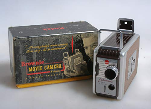 Art Deco 8MM MOVIE CAMERA in Box Manual, Working from 8MM MOVIE CAMERA
