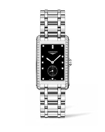 Longines Dolcevita - L5.755.0.57.6 - Black Diamond Dial Diamond Bezel Quartz Women's
