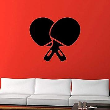 Tatuajes de pared tenis de mesa tenis de mesa Decoracion Hogar molde para pared juego deportivo ful papel tapiz adhesivo 55X43cm
