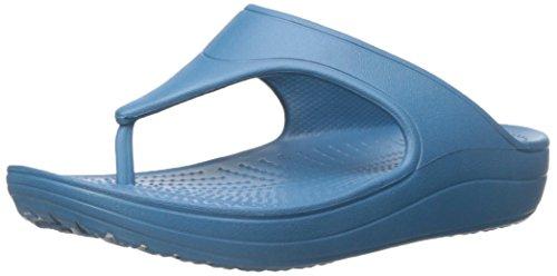 crocs Women's WN Platform Flip  Sandal, Peacock, 4 B(M) US by Crocs