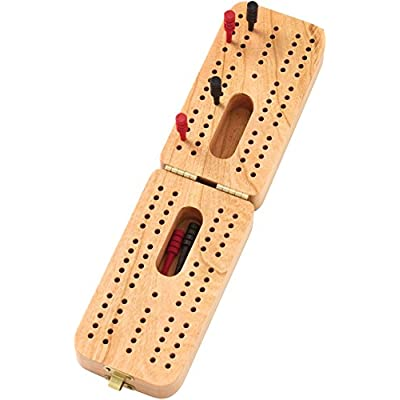 Folding Standard Cribbage Board - Made in USA: Toys & Games