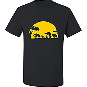 Loo Show Mens Adult Elephants And Imperial Walker Across African Safari T-Shirt Tee