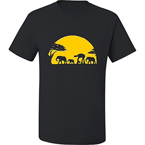 Loo Show Mens Adult Elephants And Imperial Walker Across African Safari T-Shirt ()