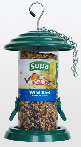 8'' Metal Construction Easy Fill Seed Feeder 2 Ports