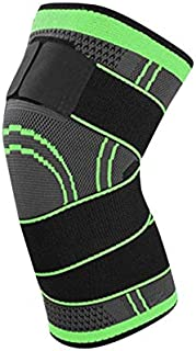 HibiscusElla 3D Pressurized Fitness Bandage Knee Support Brace Elastic Nylon Sports Compression Pad Sleeve for Running Cycling