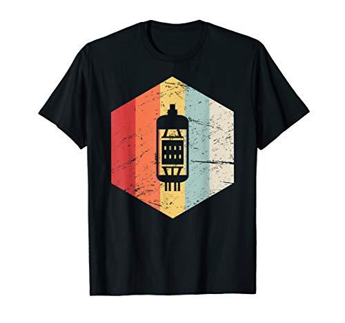 Vintage Retro Vacuum Tube Guitar T-Shirt (Guitar Tube 10)