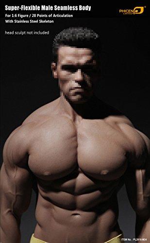 41%2BhW62U89L - Phicen 1/6 Scale Super Flexible Male Muscular Seamless Body PL2016-M34