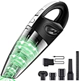 Cofuture Rechargeable Handheld Vacuum Cordless, 12V 120W Powerful Cyclone Suction Vacuum Cleaner with 2200mAh Lithium Battery,Hand Vacuum Cordless for Pet Hair,Dust,Home Car,Black