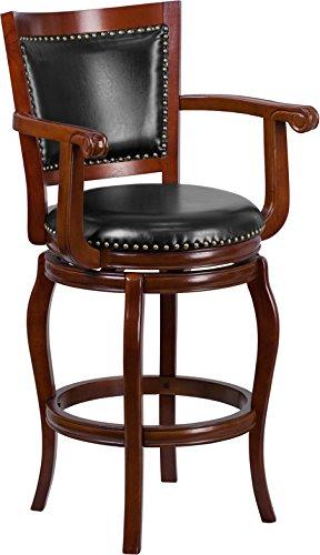 Fine Amazon Com Estella 30 Panel Back Cherry Wood Bar Stool W Squirreltailoven Fun Painted Chair Ideas Images Squirreltailovenorg