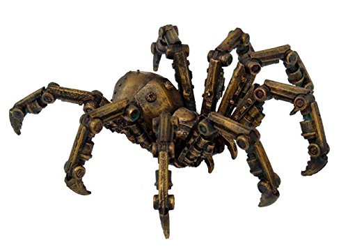 "PTC 9799 Steampunk Inspired Mechanical Spider Resin Statue Figurine, 6"" 3"