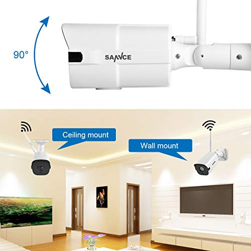 Sannce 1080p Wifi Security Camera Built In Microphone