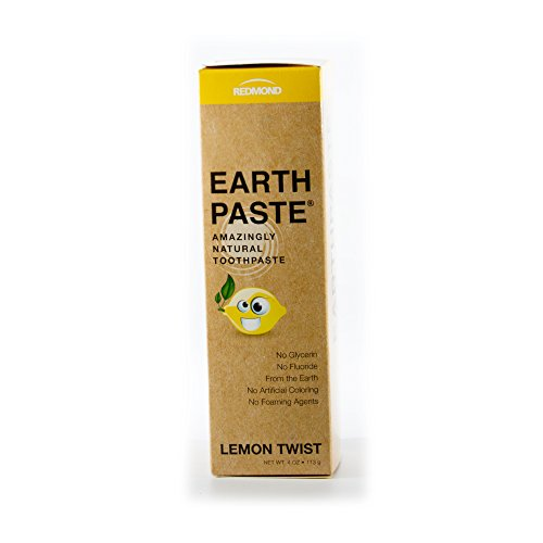 Redmond Earthpaste, Natural Non-Flouride Toothpaste, Lemon Twist, 4 (Lemon Twist)