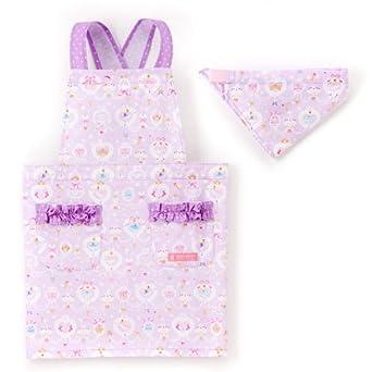 b374c013b0e16 Amazon.co.jp: バッククロスエプロン100-120 三角巾付き 子供用 レース ...
