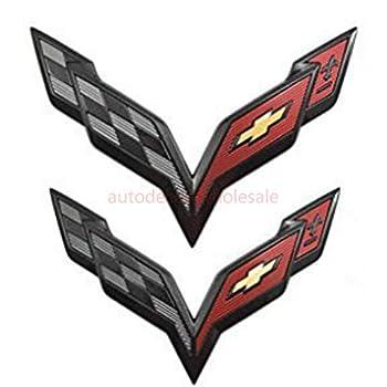 Chevrolet GM OEM 15-18 Corvette Rear Bumper-Emblem Badge Nameplate 22996232