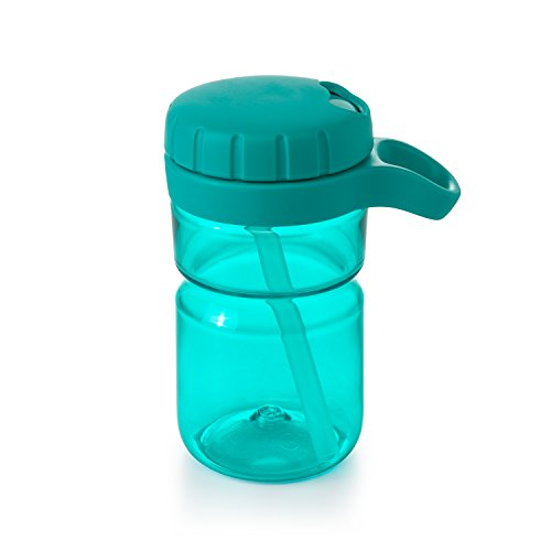 OXO Tot Twist Lid Water Bottle for Big Kids, Teal, 12 Ounce (Twist Lid Cup)