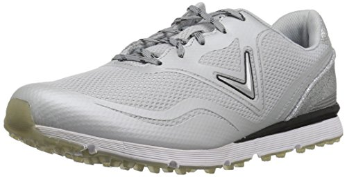 Callaway Women's Solaire Golf Shoe, Light Grey, 7.5 B B US by Callaway