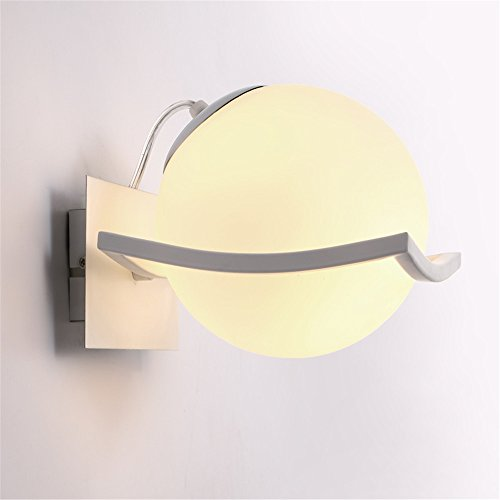 Industrial Vintage Wall Sconces Night Pearl LED Wall lamp Wall Mount Light Corridor Study Round The Head of The Stairs with Decorative Lights Road Lights ()