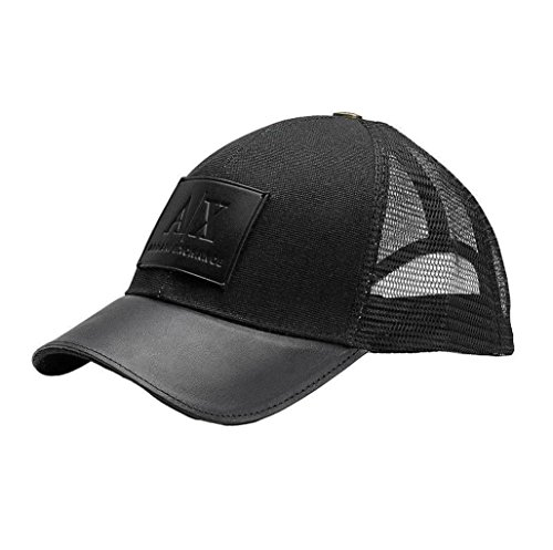 Amazon.com  Armani Exchange Brand New with Tags Leather Patch Baseball Hat   Clothing 9baa93db2b1