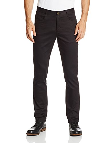Lee Uniforms Men's Skinny Leg 5 Pocket Pant, Black, 36x30